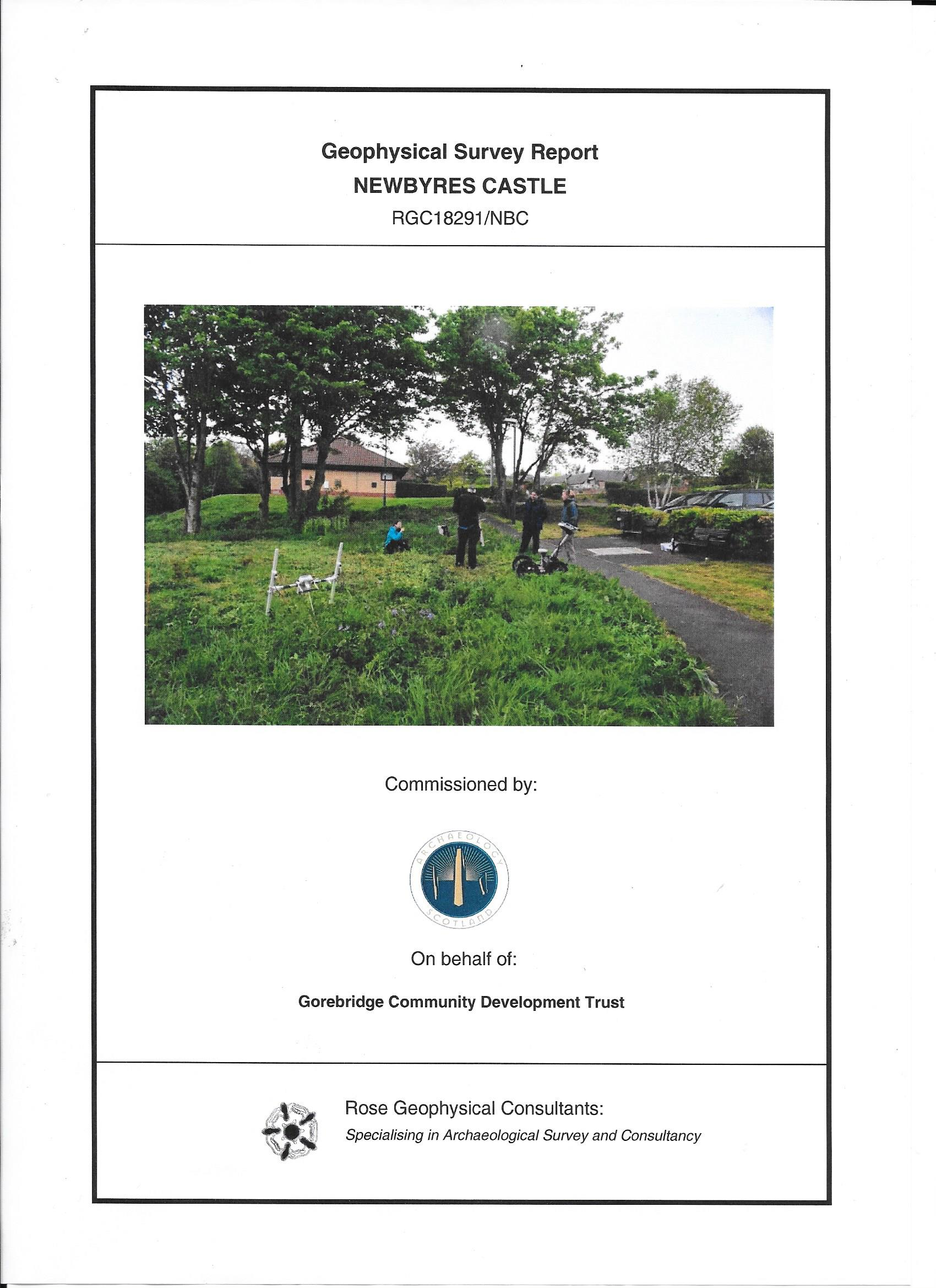 Newbyres Castle archaeology report cover 002
